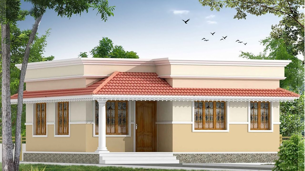 2bhk house interior design plan 10lakhs in kerala house for Home plans designs kerala