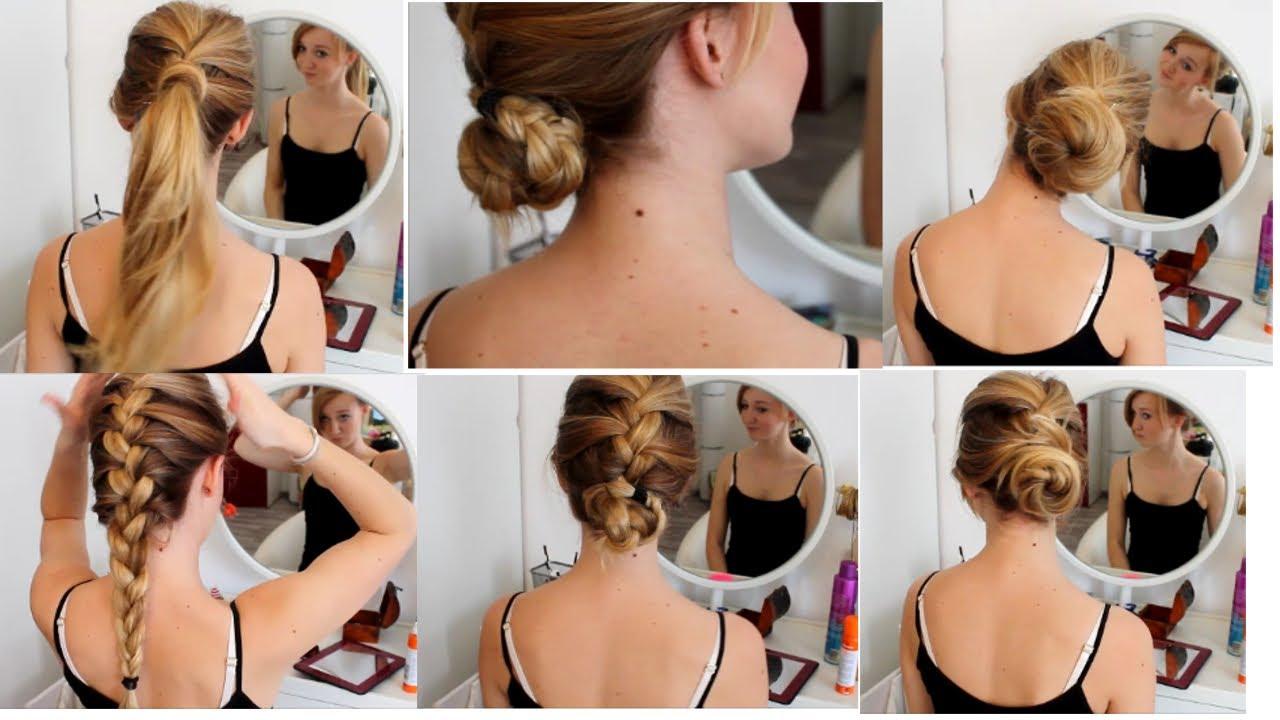 Haartutorial 6 Super Einfache Und Schnelle Flecht Frisuren Youtube