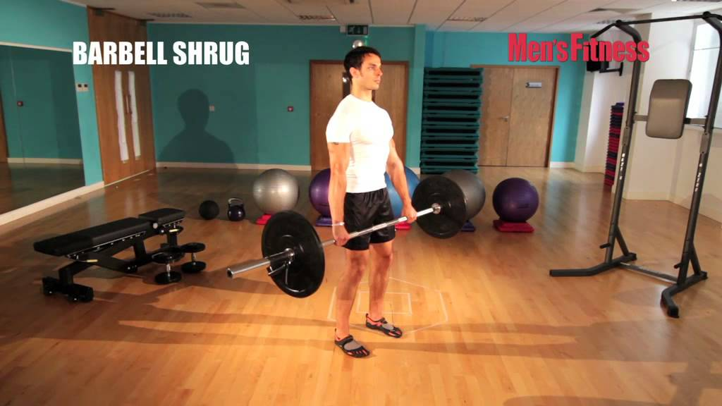 Barbell Shrug form guide - Get a six-pack in six weeks - YouTube