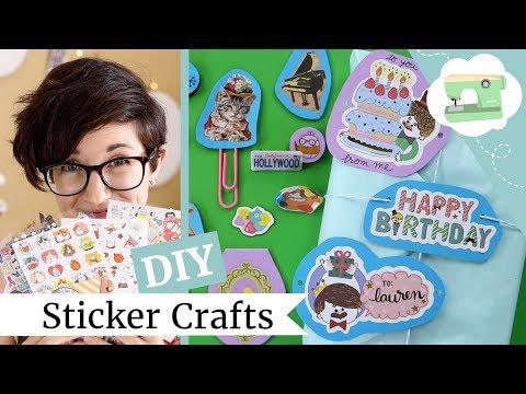 6 DIY Sticker Hacks - Easy 5-Minute Crafts Using Stickers! | @laurenfairwx
