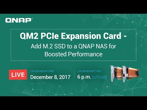 QM2 PCIe Expansion Card - Add M.2 SSD to a QNAP NAS for Boosted Performance