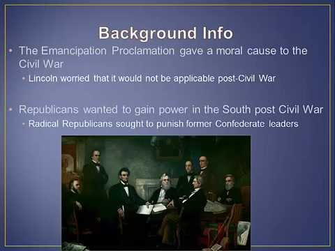 APUSH Review: The 13, 14, and 15 Amendments (Period 5: 1844 - 1877)