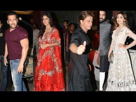 Bollywood Actors Diwali Party 2017 - Salman, Shahrukh, Katrina, Shilpa & More