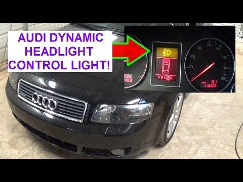 AUDI A4 B6 Yellow warning light Dynamic Headlight Range Control