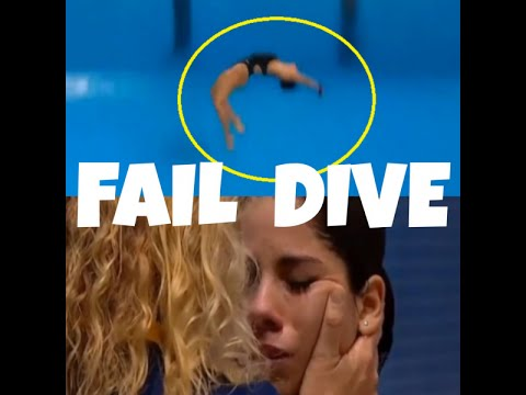 Brazilian diver fails and falls while diving in Pan American Games 2015