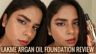 Lakme Absolute Argan Oil Serum Foundation| Demo, Swatches & Review | Indian/Tan/Dusky/Brown Skintone