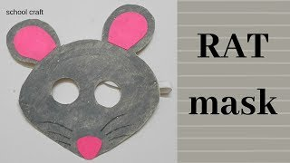mouse mask| Rat mask| School Craft|