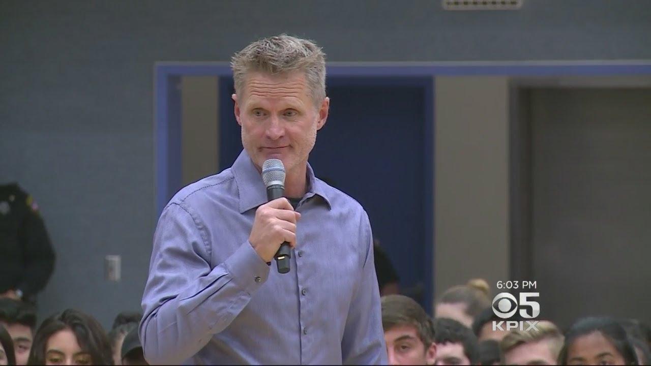 Warriors Coach Steve Kerr Appeals To Newark Memorial High Students About Gun Control