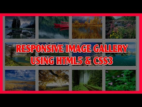 Responsive Image Gallery Using HTML5 & CSS3 | Pure CSS3 Image Gallery