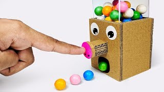 How To Make Gumball Candy Dispenser Machine From Cardboard