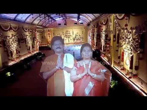 Holographic Virtual Welcome display at hyderabad-kompally for wedding reception- INDIA
