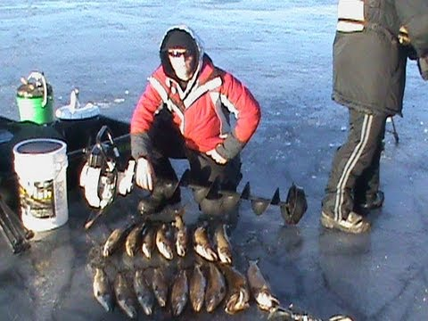 Sebago lake ice fishing for lake trout togue youtube for Maine out of state fishing license