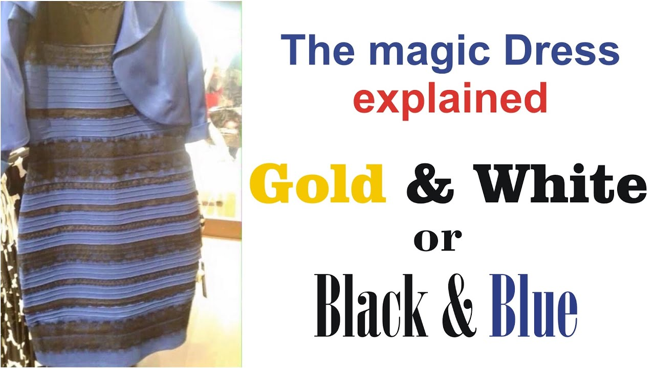 Blue and black vs white and gold dress explanation