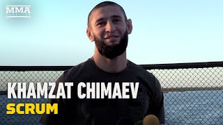 Fast-rising #ufc star khamzat chimaev talks potential matchups with darren till, neil magny, and demian maia, much more during #ufcfightisland6 fight wee...
