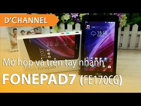 FonePad 7 (FE170CG) - Mở hộp và trên tay nhanh máy tình bảng giá cực rẻ!