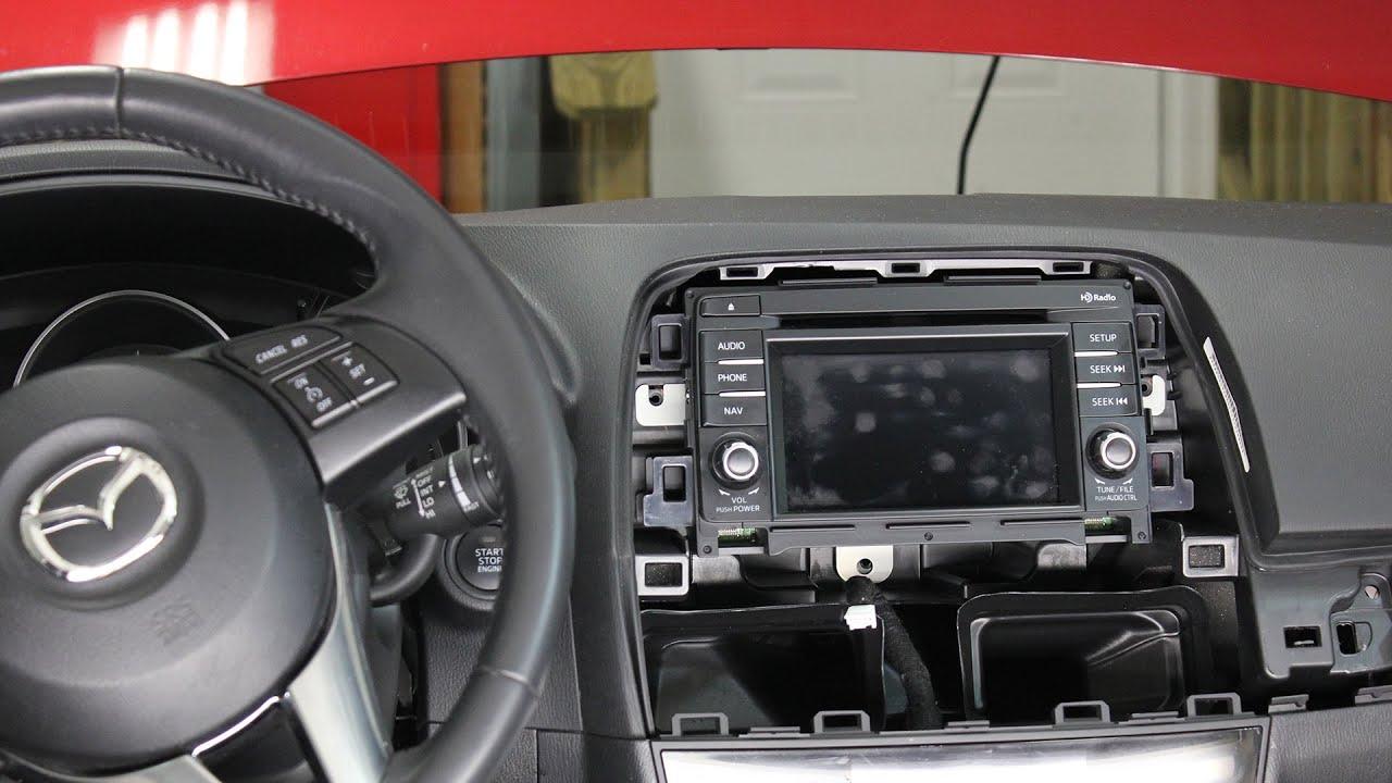 Mazda CX5 Stereo   Radio   Audio Unit   Removal