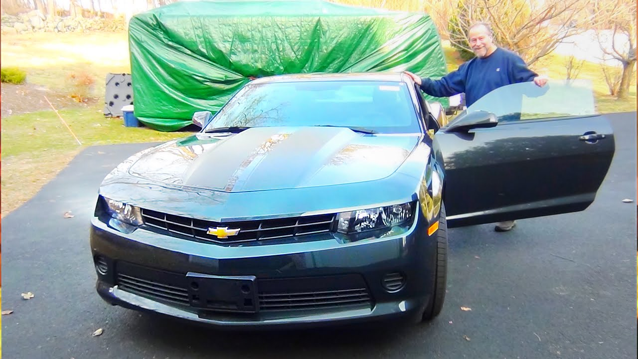 son surprises dad with his dream car for 60th birthday 2015 camaro 2ls youtube