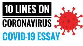 10 Lines on Coronavirus essay in English, Covid-19 essay, Covid 19 paragraph with symptoms