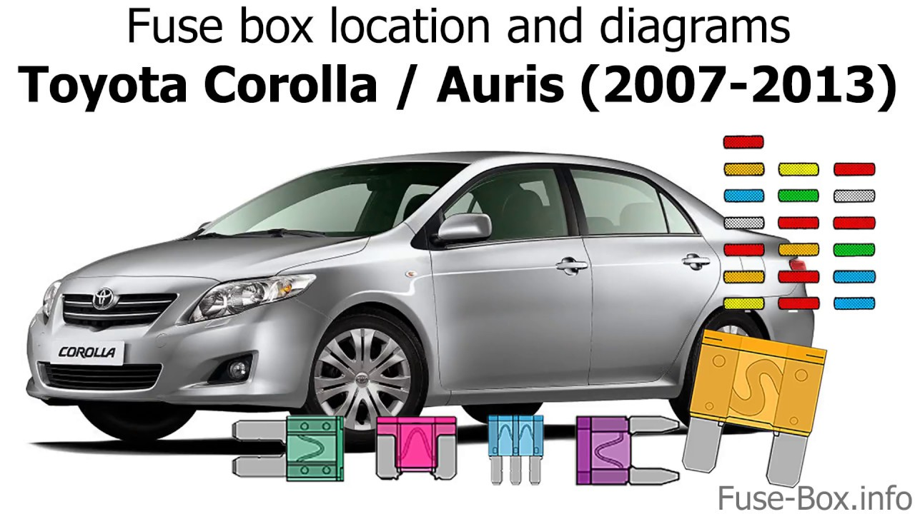 [FPER_4992]  Fuse box location and diagrams: Toyota Corolla / Auris (2007-2013) - YouTube | 2007 Toyota Corolla Fuse Panel Diagram |  | YouTube