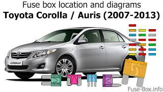 Fuse box location and diagrams: Toyota Corolla / Auris (2007-2013) - YouTubeYouTube