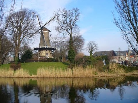 Working Dutch Windmill (Alkmaar, The Netherlands)