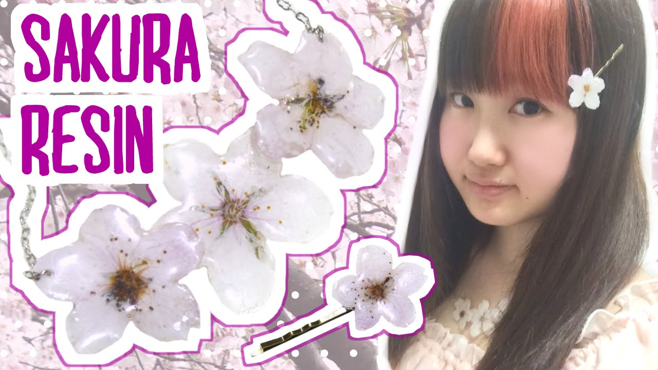 Pink Cherry Blossom Resin Blade Glittering White Sakura Kunai