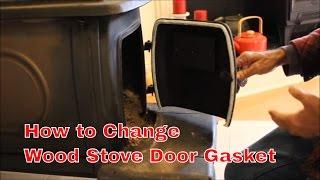 How to Change a  Wood Stove Door Gasket