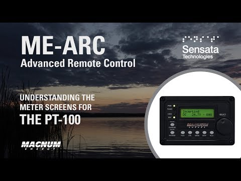 Understand the ME-ARC Remote Meter Screens for the PT-100 Charge Controller