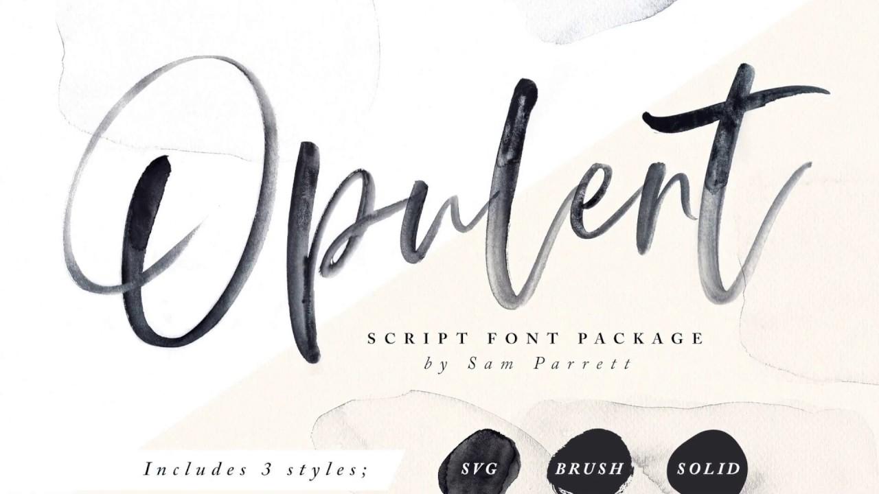 Opulent font - Kreativ Font