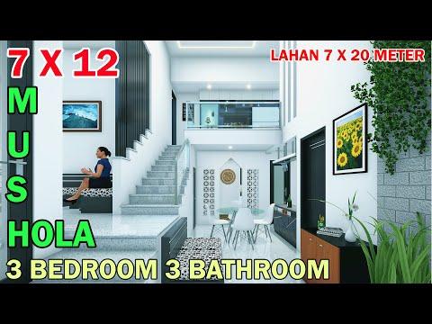 split-level-house-1,5-lantai-7x12-meter-3-kamar-3-toilet-mushola-di-lahan-7x20-meter