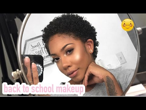 BACK TO SCHOOL MAKEUP + GLAM LOOK FOR BEGINNERS!