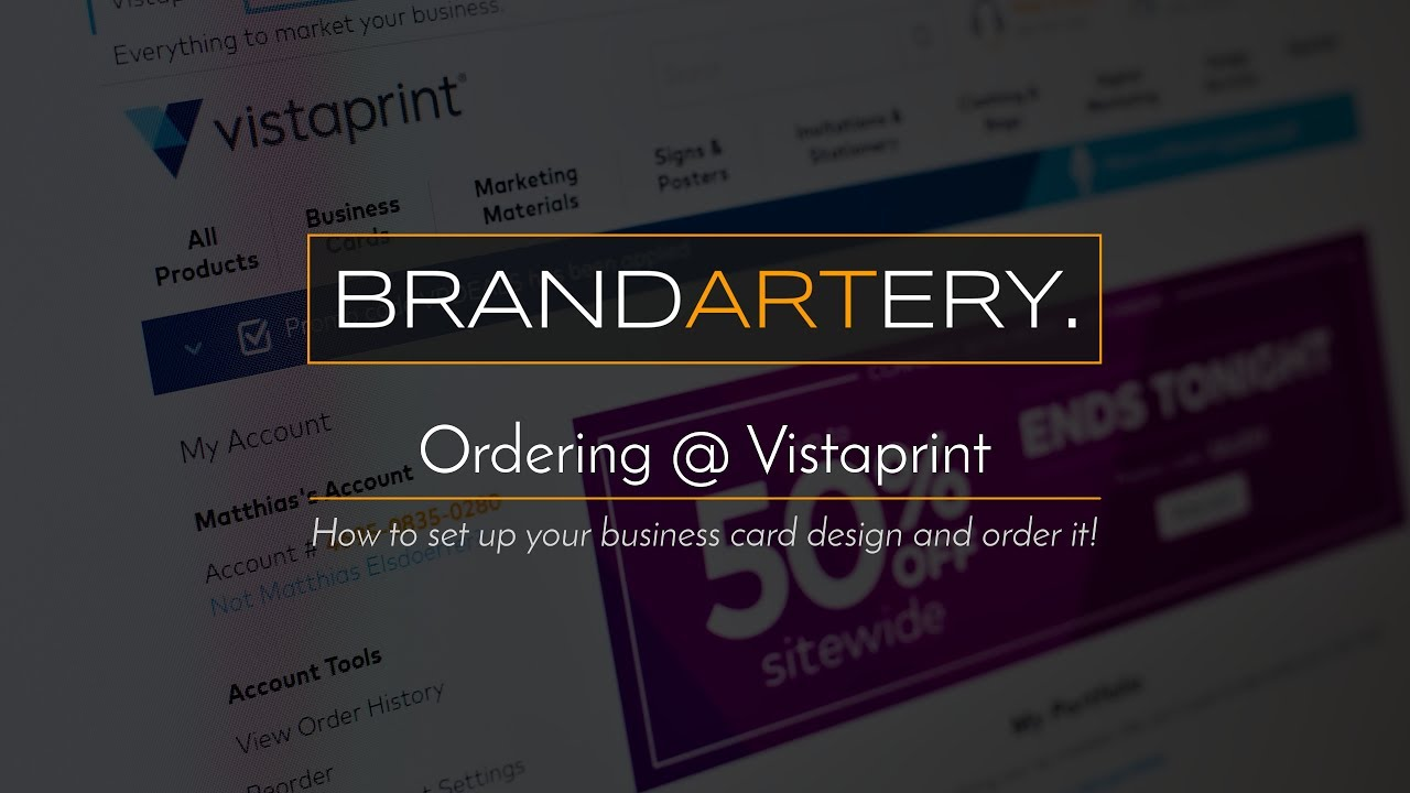 Vistaprint: Ordering your Business Cards (May 2017) - YouTube