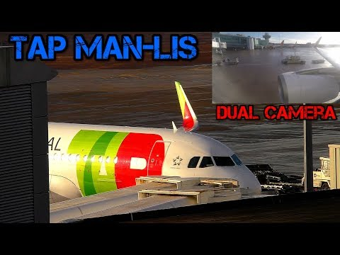 Tap Air Portugal with Inflight Video Manchester to Lisbon Dual Camera Airbus A320