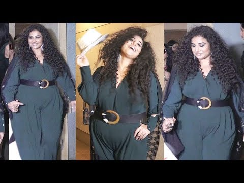 Vidya Balan Looks FAT At Her Birthday Party 2019