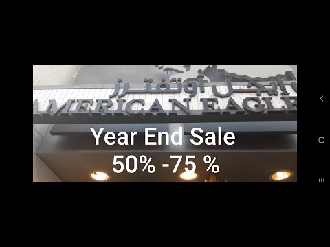 American Eagle Year End Sale 50%-75% Off