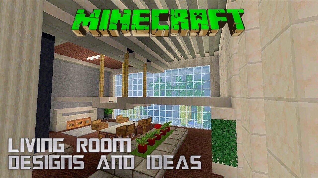 Minecraft Tutorial LIVING ROOM DESIGNS IDEAS Ep 2 2015