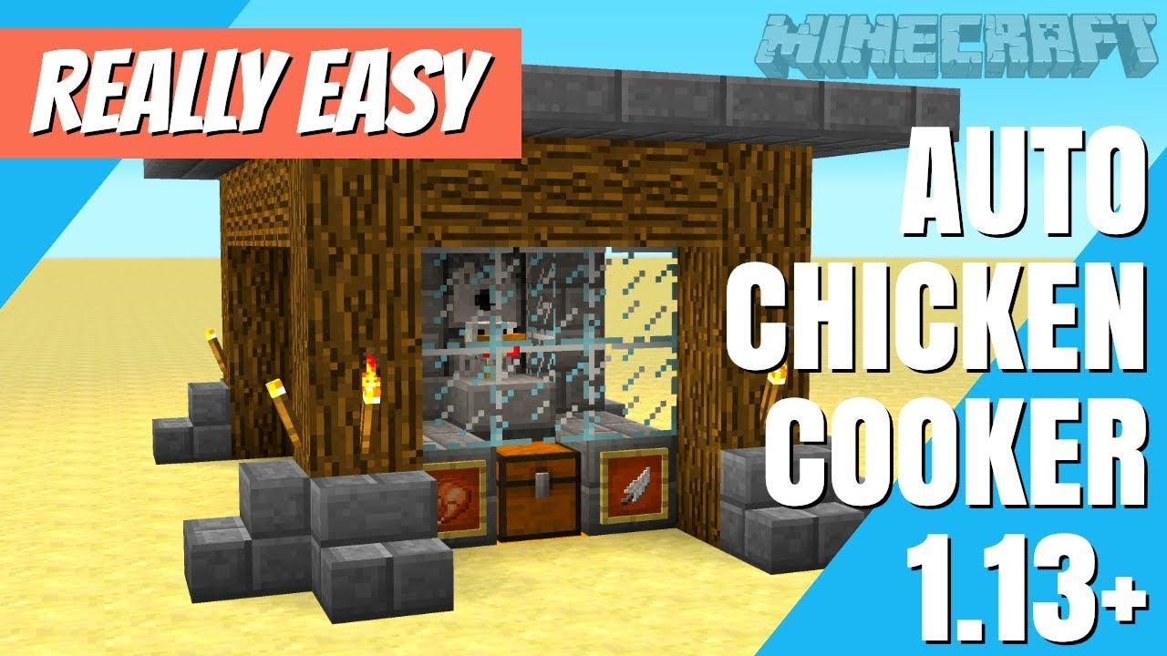 How to make a Chicken Cooker in Minecraft: Automatic Chicken Cooker  Minecraft Farm with Avomance