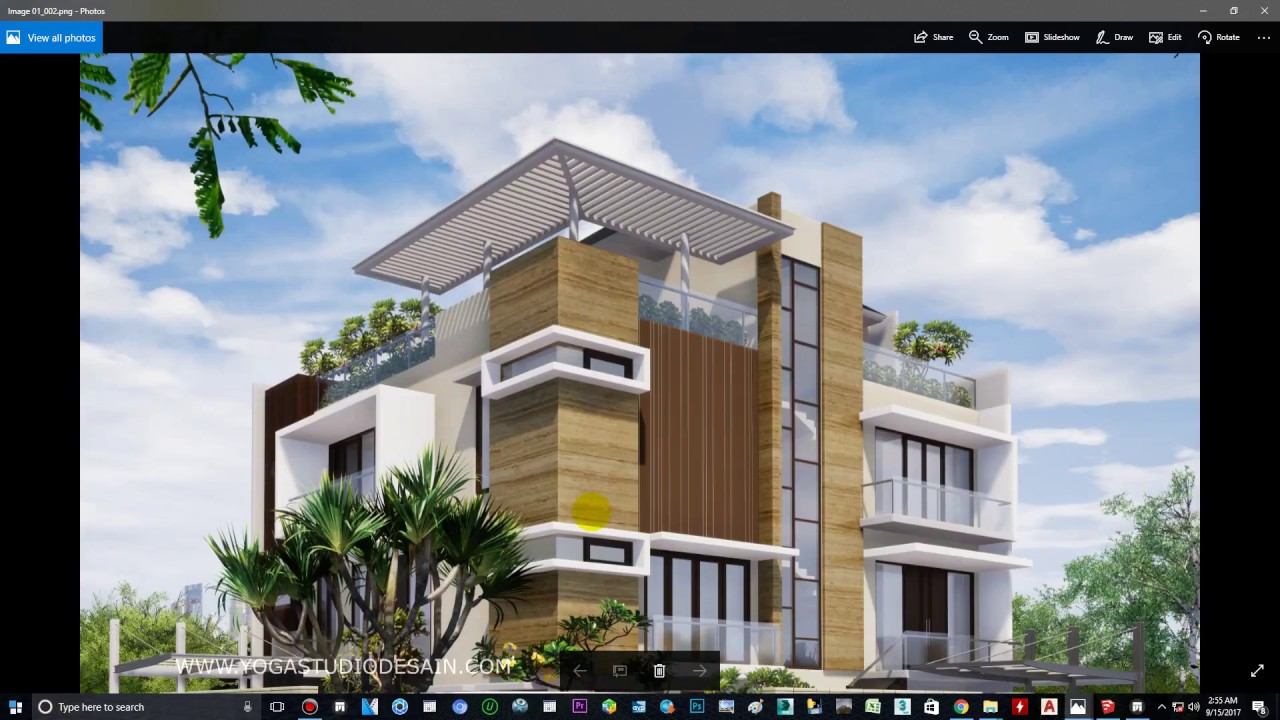 TWINMOTION 2018 RENDERING TUTORIALS#2 EXTERIOR RESIDENCE DAYLIGHT
