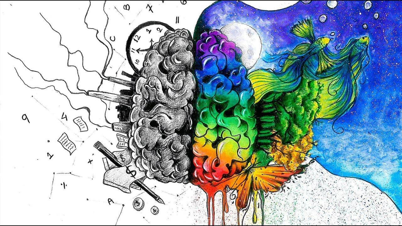 The Left Brain vs Right Brain Myth Analysis Art - YouTube