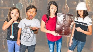 We found a Mysterious Spell Book! Kids can