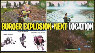 *NEW* Fortnite: DURR BURGER EXPLOSION AND NEXT SECRET PORTAL LOCATION! | (What Happens Next)