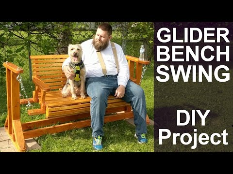 DIY Wood Glider Bench Swing for Garden