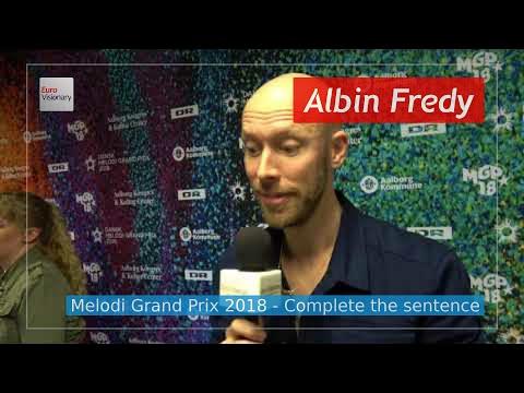 Denmark: Melodi Grand Prix 2018 - Albin Fredy - Music For The Road (Interview)
