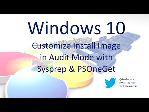 Windows 10 - Customize in Audit Mode with Sysprep - YouTube