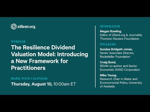 The Resilience Dividend Valuation Model - Introducing a New Framework for Practitioners