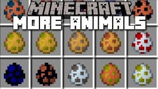 Minecraft MORE ANIMALS MOD / LIONS, BEARS, KITTY CATS & MORE!! Minecraft