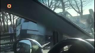 Beelden die kort na het dodelijk ongeval in Helmond zijn gemaakt