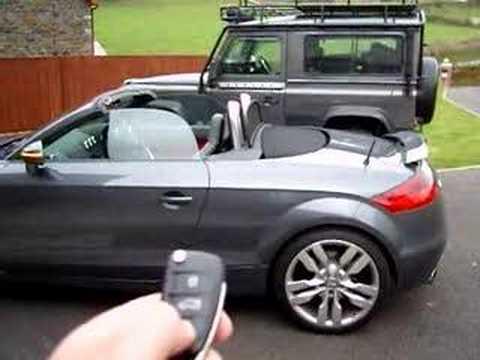 Audi TT Remote Roof YouTube - Audi tt roadster car cover