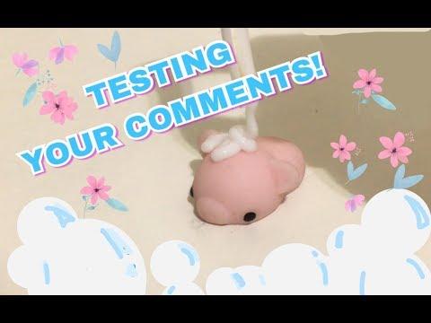 TESTING YOUR WAYS TO CLEAN A MOCHI SQUISHY | Kawaii Fluff