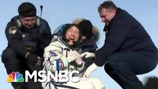 astronaut-christina-koch-dog-welcomes-home-year-space-11th-hour-msnbc